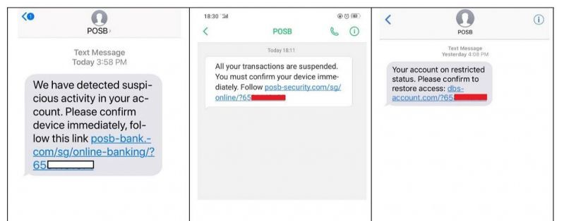 SMS Phishing Attempts Against DBS
